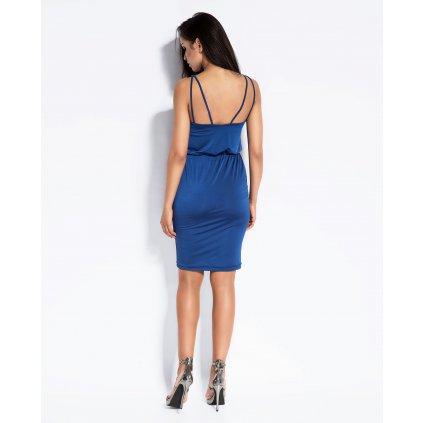 Elegantní šaty Miro s dvojitými ramínky DURSI - MODRÉ M