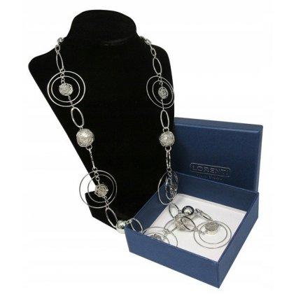 Prolamovaný dlouhý náhrdelník s motivem obruče