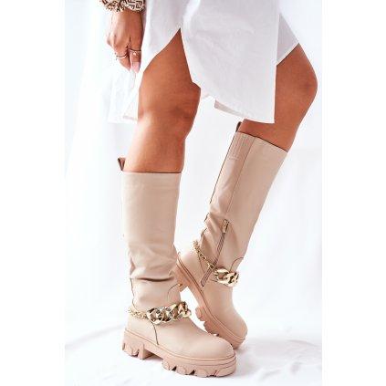 Vysoké Bezove boty Cecina