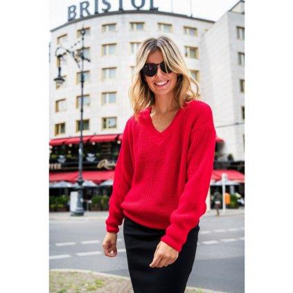 Pletený svetr s výstřihem do BK075 BeWear