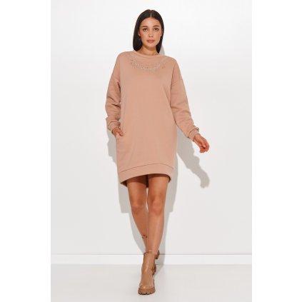 Mikinové šaty s imitací řetízku NU378 NUMINOU