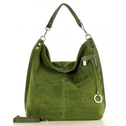 Nadčasová kožená taška - Renella nubuck