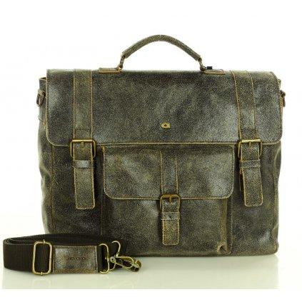 Kožená taška na rameno pánská aktovka na notebook