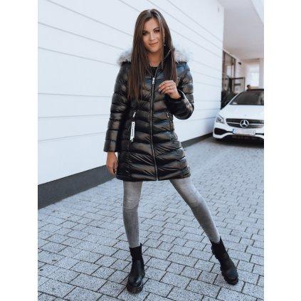 Zimní prošívaná bunda dámská TERRA na zip s kapucí
