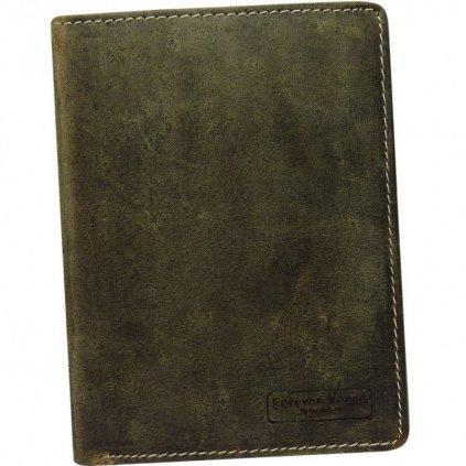 Pánská peněženka z přírodní kůže bez zapínaní