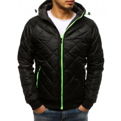 Pánská bunda přechodná prošívaná v černé barvě Dstreet TX3780z