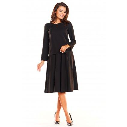 Dámský set halenka s dlouhým rukávem + midi sukně A237
