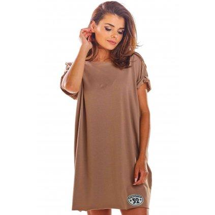 Volné mini šaty s krátkým rukávem M210 InfiniteYou