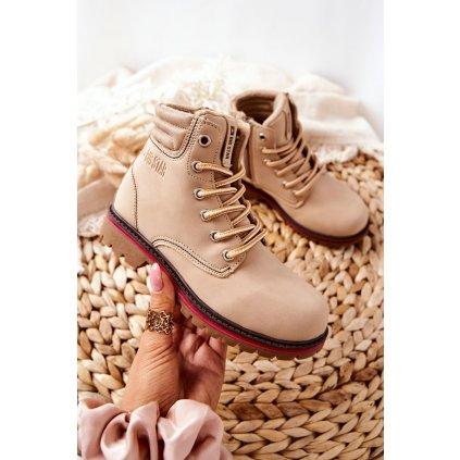 Dětské boty Trapper Big Star BB374126BS Béžové