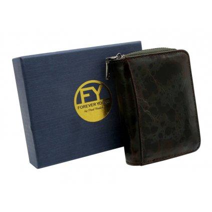 Kompaktní dámská peněženka z přírodní kůže