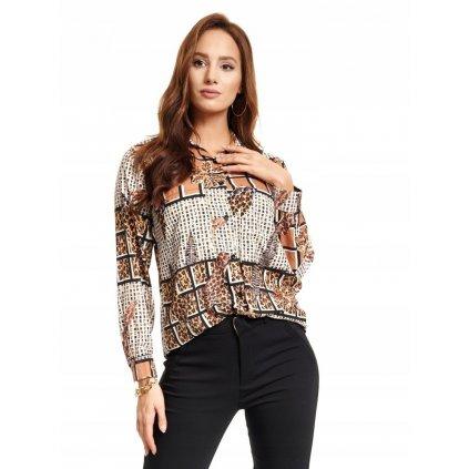 Dámská košile s rovným leopardím vzorem