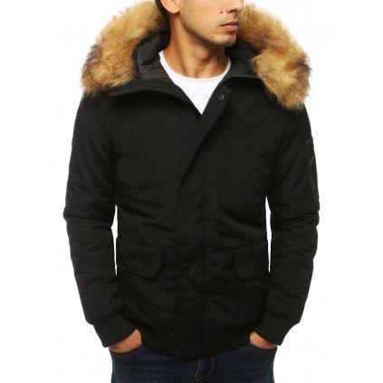 Pánská bunda zimní parka s kapucí a kožíškem TX3940