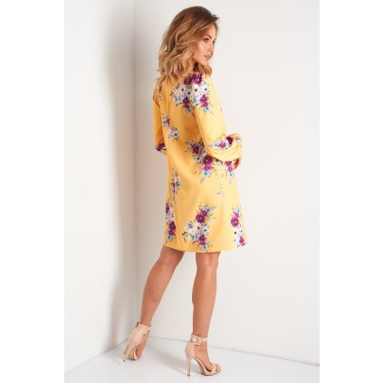 Elegantní šaty s květinovým vzorem N102 LEMONIADE