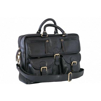 Rozsáhlá kožená pánská taška na notebook