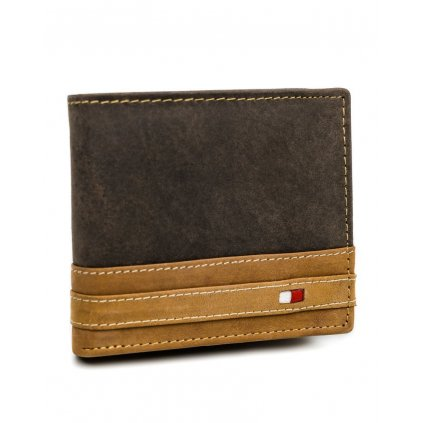 Skládací pánská peněženka z pravé kůže