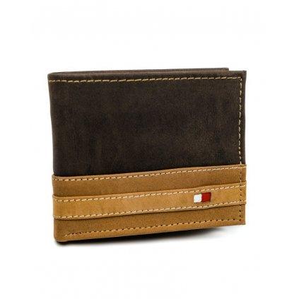 Originální pánská kožená peněženka se západkou