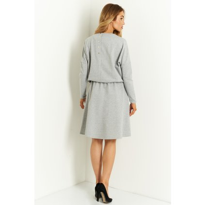 bavlněné šaty s knoflíky na zádech L412 LEMONIADE