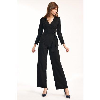 Elegantní overal s výstřihem a širokými nohavicemi NIFE KM24
