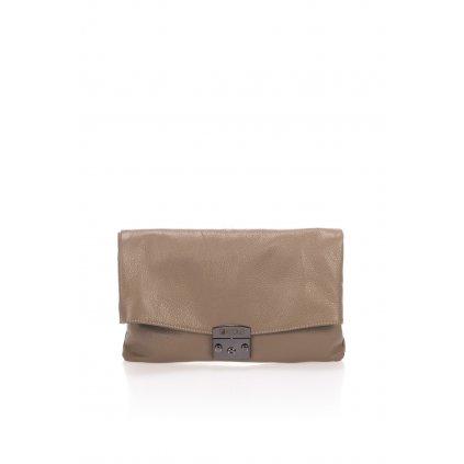 Kožená kabelka LEA, DOLLARO, clutch se zámkem