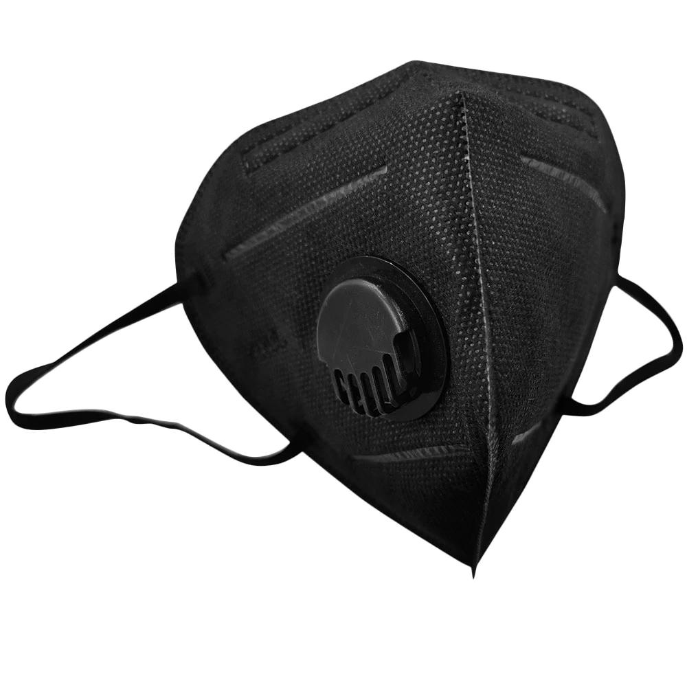 Respirační rouška s filtrem KN95 Solight respirátor s ventilem FFP2 Barva: Černá