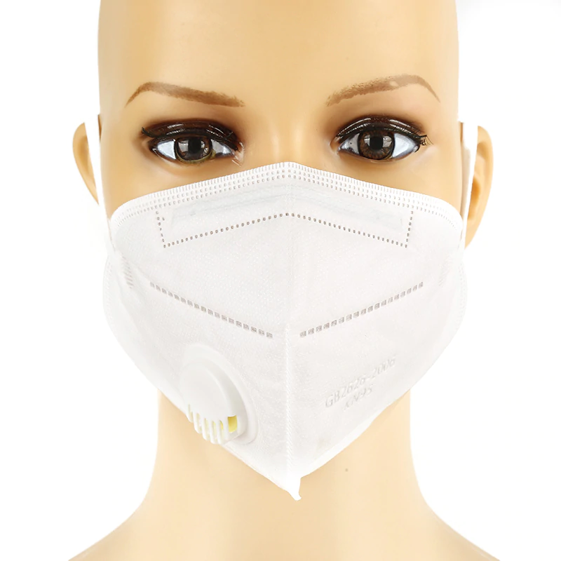 Respirační rouška s filtrem KN95 Solight respirátor s ventilem FFP2 Barva: Bílá