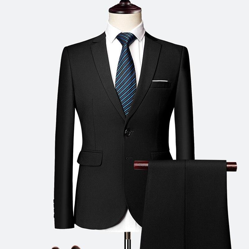 Pánský klasický oblek do práce kvalitní pánský set sako, vesta a kalhoty Barva: Černá, Velikost: XL,