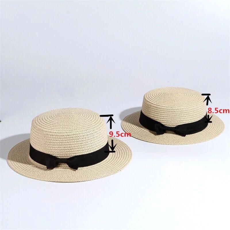 Dámský slaměný klobouk zdobený páskem s mašli Barva: Béžová, Velikost: S