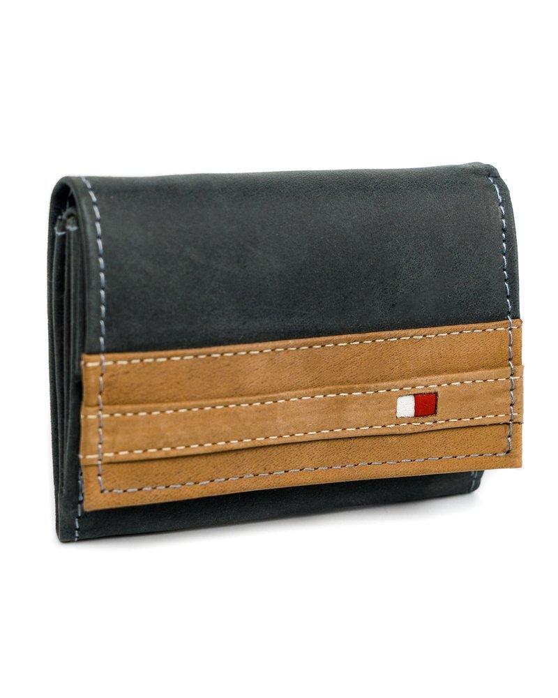 Originální kožená pánská peněženka kontrastní Always Wild Barva: Černá