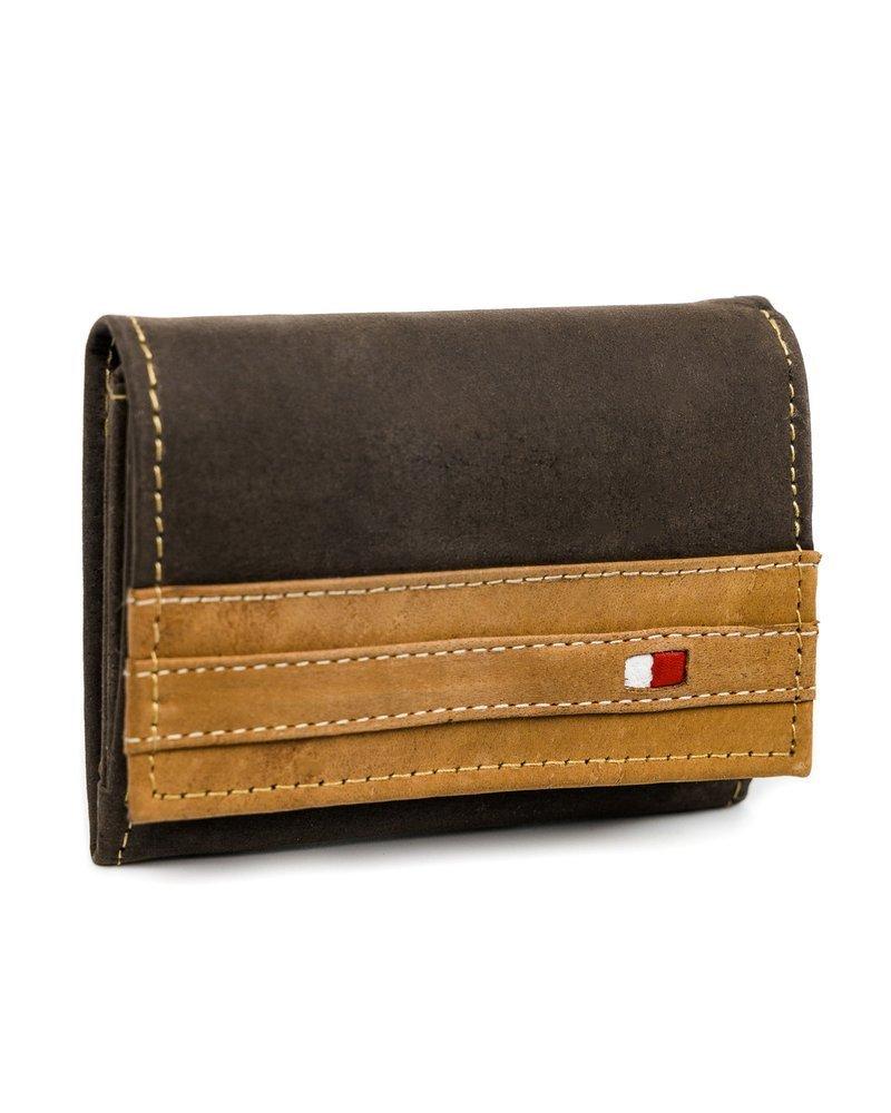 Originální kožená pánská peněženka kontrastní Always Wild Barva: Hnědá