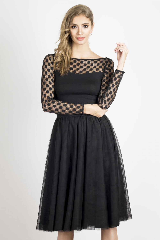 Ivon Týlová plisovaná sukně délky midi Barva: Černá, Velikost: S