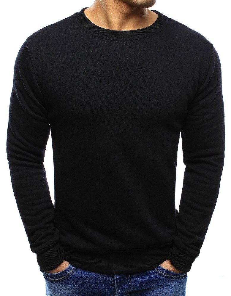 Dstreet Pánská mikina bez kapuce antracitová Barva: Černá, Velikost: M