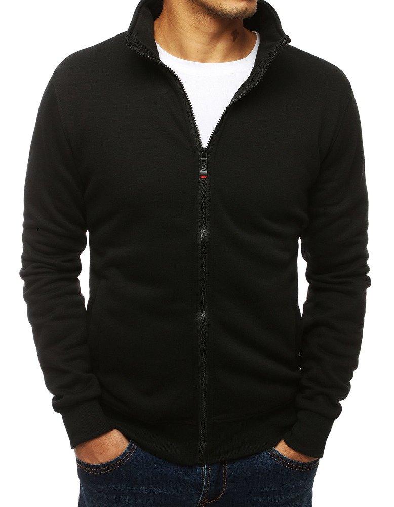 Dstreet Pánská mikina se zapínáním na zip bez kapuce Barva: Černá, Velikost: M