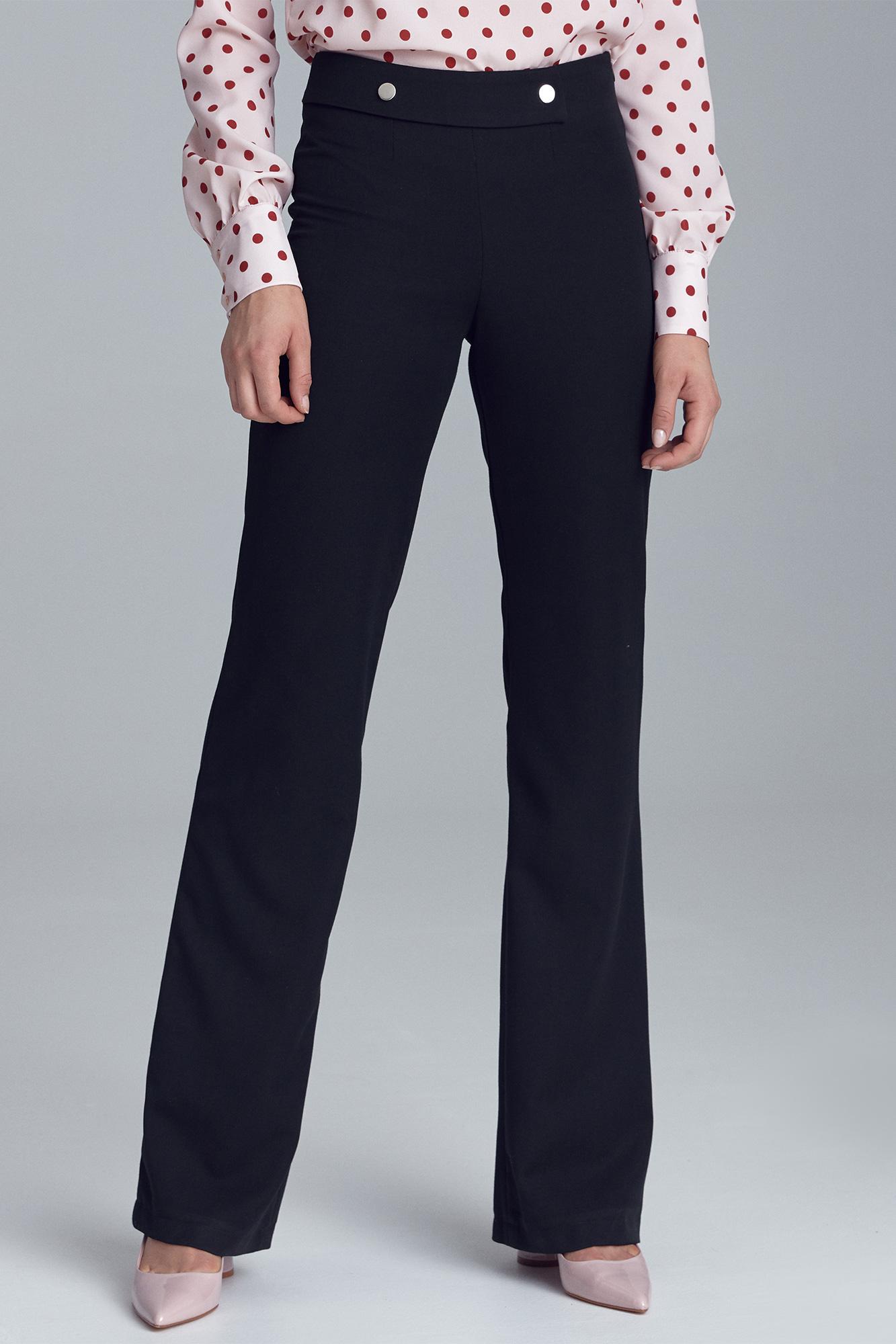 Nife Klasické černé kalhoty do práce Barva: Černá, Velikost: S