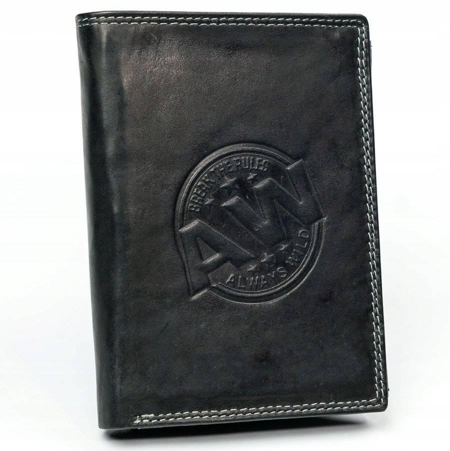 ALWAYS WILD Každodenní kožená peněženka s firemní ražbou
