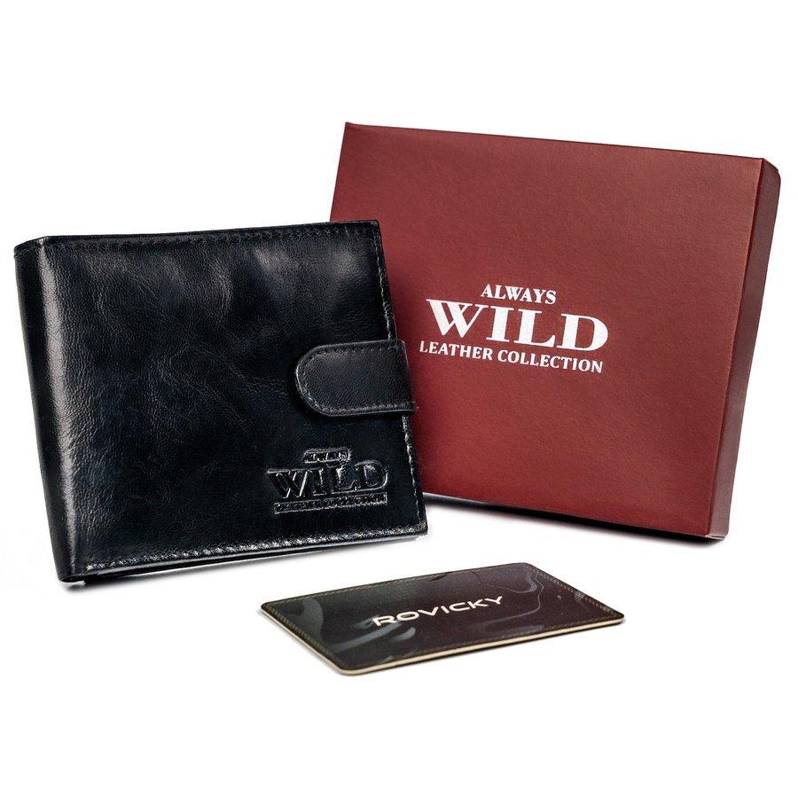 ALWAYS WILD Pánská peněženka z pevné kůže Zapínání: západka