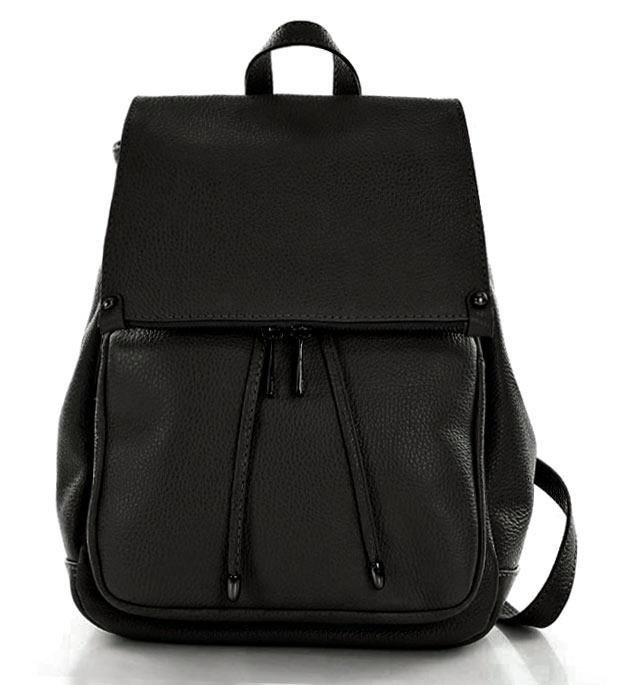 Marco Mazzini Praktický batoh z přírodní kůže DALLAS Barva: Černá
