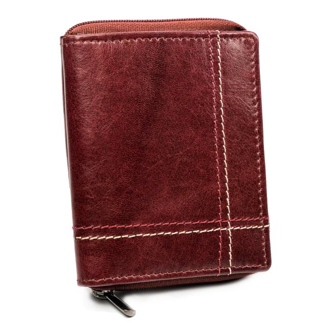 ALWAYS WILD Pánská kožená peněženka na karty Barva: Bordová
