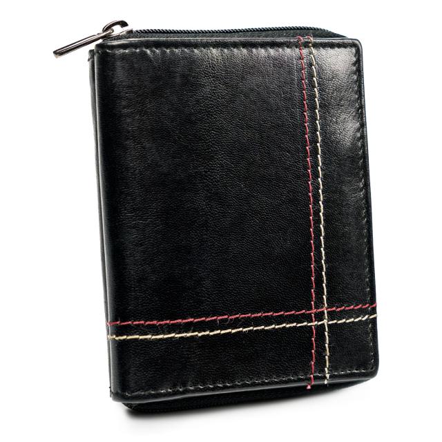 ALWAYS WILD Pánská kožená peněženka na karty Barva: Černá