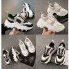 Stylové vysoké tenisky na platformě módní boty s tkaničkami (8)
