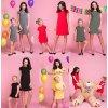 Set šatů s mašlí pro maminku a dceru z měkké a příjemné pleteniny (23)