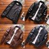 Kožená větrovka s podšívkou pánská hladka bunda na zip (1)