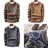 Pletený svetr barevný pulovr mix barev pulovr vícebarevný (1)