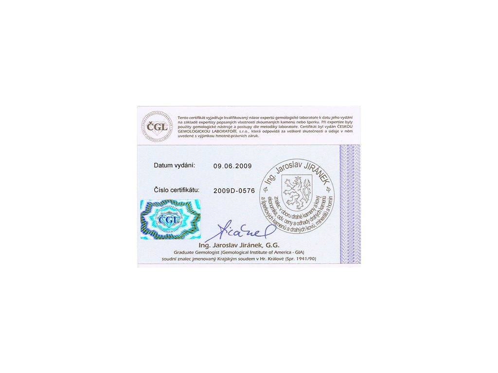 17eee2df2 perlový náramek oranžový - lososový · Certifikát pravosti perel České  gemologické laboratoře