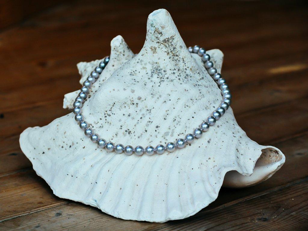 perlový komplet světle šedý