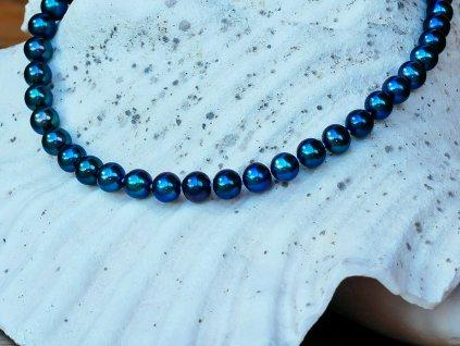 perlový náhrdelník černý