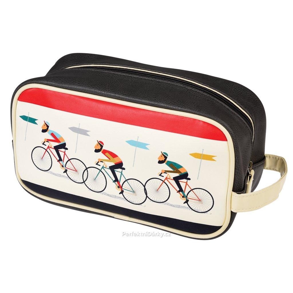 Pánská toaletní taška - cyklisté