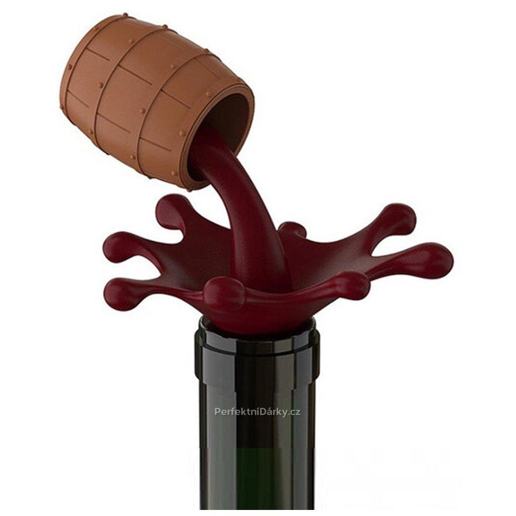 Zátka na víno - sud na víno