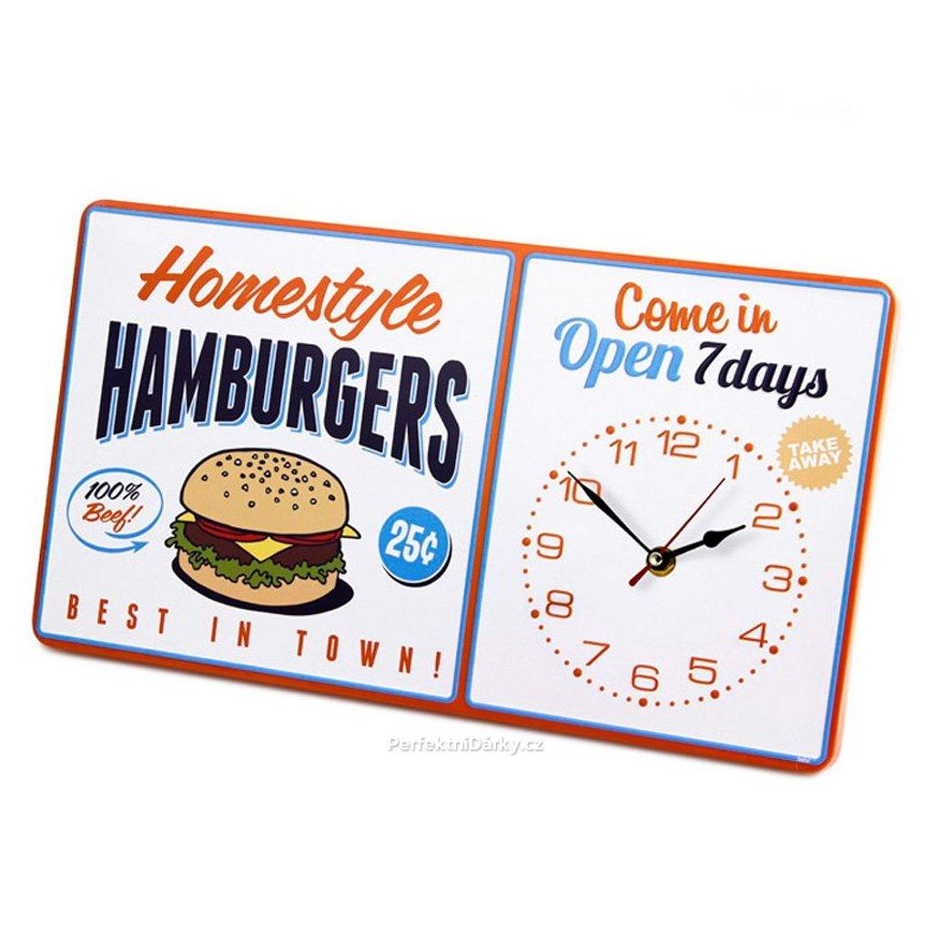Retro hodiny - hamburgers