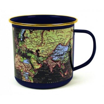 Plecháček - mapa světa