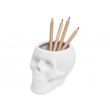 Stojánek na tužky - lebka
